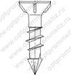 ОПМ 206026 Саморез Spax-M, с потайной головкой и зенкующими рёбрами, щлиц T-Star plus, неполная резьба, четырёхгранный конец CUT