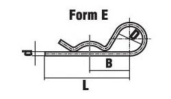 Шплинт пружинный игольчатый DIN 11024 Form E