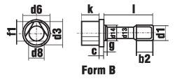 DIN 22424 Болт с трехгранной головкой и буртиком. Вариант B