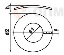 DIN 137 Form A Шайба изогнутая