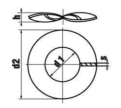 DIN 137 Form B Шайба изогнутая