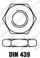 DIN 439 Гайка низкая с мелкой резьбой с фаской