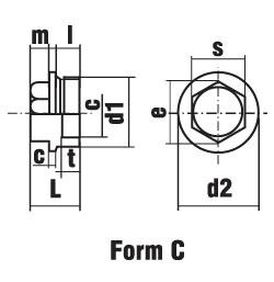 DIN 7604 C Пробка резьбовая