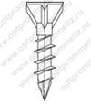 ОПМ 206013 Саморез Spax для деревянных полов, с потайной головкой и зенкующими рёбрами, шлиц Torx T10, четырёхганный конец CUT
