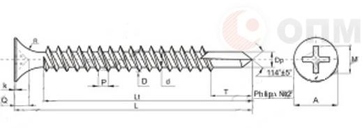 Саморез ОПМ 206039 - схема