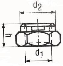 DIN 980V с буртиком