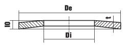 DIN 2093 схема форм исполнения